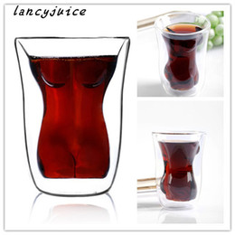 Wholesale Sexy Cups Glass - Crystal Whiskey Wine Drinking Cup Sexy Women Shot Glass Cup Beautiful Naked Lady Body Novel Shot Glass Beer mug