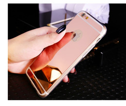 Wholesale Iphone 4s Tpu Black - Luxury Plating Mirror Soft TPU Silicon Case For iphone 7 6 6S   7 6 6S Plus 5 5S 4 4s Back Cover Phone Bag Cases