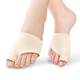 1 Par de Cuidados Com Os Pés Tecido Gel Joanete Pads Protetores Mangas Escudo Anti-fricção Toe Joint Big Palmilhas Hálux Valgo Corrector cheap gel foot pads de Fornecedores de almofadas de pé de gel