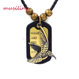 Wholesale Metal Charms Pendants Wings - Copper Alloy Wings Horse Wolf Dragonfly Monkey Leather Necklace Pendants Jewelry High Quality Accessories Metal Hip Hop Jewelry