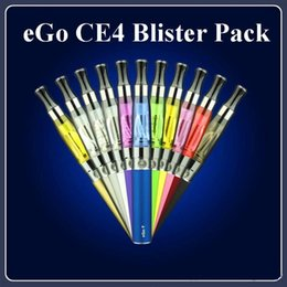 Wholesale Ego Atomizer Colors T - Top Quality EGo Blister Kit Electronic Cigarette Starter Kits With CE4 Atomizer And 650 900 1100 MAh Ego T Battery Various Colors DHL