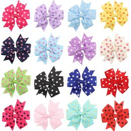 Wholesale Wholesale Indian Headdress China - Brand new Children wave point swallowtail bow hairpin baby hairpin baby hair ornaments headdress FJ115 mix order 60 pieces a lot