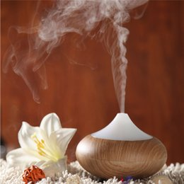 Wholesale Mist Maker Air - Air Ultrasonic Humidifier Essential Oil Diffuser Wood Air Purifier Aromatherapy Electric Aroma Diffuser Mist Maker 0703060