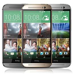 "M8 telefono movil online-Reacondicionado Original HTC One M8 4G Lte 5.0 ""Quad Core desbloqueado UE EE. UU. Auricular 2GB RAM 16 / 32GB ROM WIFI GPS Android Teléfono móvil Gratis DHL 5pcs"