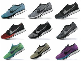 Wholesale Spike Casual Shoes - Top Quality Wholesale 2017 Men Women Casual Racer Trainer Chukka Black Red Blue Grey Lightweight Breathable Walking Shoes EUR36-45