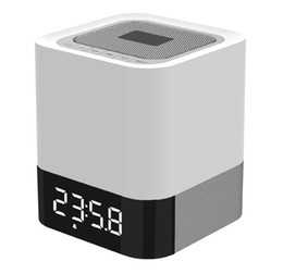 Wholesale Mp3 Player Alarm - MUSKY DY 28 Portable Wireless Bluetooth Stereo Speaker Support AUX Audio Input+ Handsfree Call +LED Shinning+Time Clock Alarm Mode