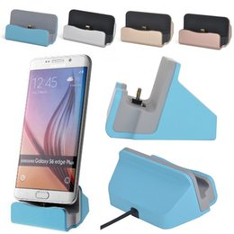 Wholesale Phone Charge Station - Universal Micro USB Charging Dock Stand Station Desktop Sync Dock Charger For Samsung HTC LG Android Smart Phone