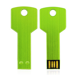 Wholesale New Flash Drive - HanDisk Key Type Green NEW USB Flash Drives 16GB 32GB 64GB 128GB 256GB Metal write Free shipping USB 2.0 High speed EU024