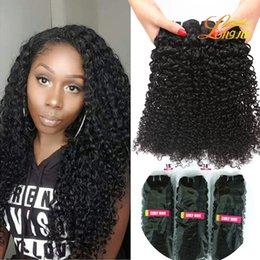 Wholesale Malaysian Hair Free Shipping - Grade 8A Brazilian Kinky Curly Virgin Hair 100%Unprocessed Human Hair Weave Curly Hair Bundles Peruvian Malaysian Indian Curly Free Shipping
