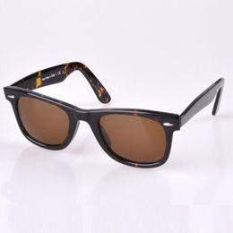 Wholesale Metal Sights - Excellent Quality Plank Sunglasses Tortoise Frame Brown lenses Sunglasses Metal hinge Fashion Men's Sunglasses unisex Sun glasses 50 54MM