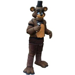 Wholesale Mascot Clothes - Five Nights at Freddy's FNAF Toy Creepy Freddy Fazbear Mascot Cartoon Christmas Clothing High-quality adult size real picture