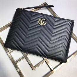 Wholesale Blue Cow Leather Handbags - 2017 New design, GG clutch bags, best quaility, genuine leather fashion handbags clutches women clutch bags cow leather