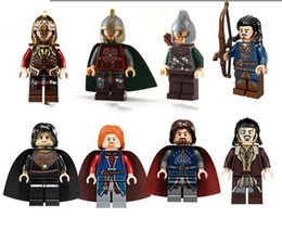 Wholesale Toy Lord Rings - 480pcs lot PG8031 Marvel The Lord of the Rings Aragorn rohan King Theoden Boromir Medieval Castle fgures Toys for children 077