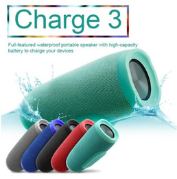 Wholesale Mini Hifi Music Speaker - New Charge 3 Bluetooth Speaker Waterproof Portable Outdoor Subwoofer Speakers HIFI Wireless Music Player Handsfree TF Card with Power Bank