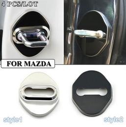 Wholesale Door Lock Protection Cover - Car-Styling Stainless Steel Door Lock Decoration Protection Cover Case For CX 5 CX-5 CX5 Mazda 3 Mazda 6 Mazda 323 Car Styling