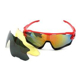Wholesale Sunglasses Lens Sport Goggle Cycling - Buy One Get 2pcs Lenses Outdoor Cycling Sunglasses9270 sets of Polarized Sunglasses Biking MTB Road UV400 myopia strap clips myopia