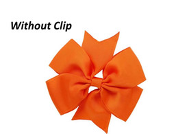"Wholesale Diy Ribbon Bow Hair Clip - (Without Clip) 4"" Grosgrain Ribbon pinwheel Bow Hair Diy Accessories choose 10colors 100pcs"