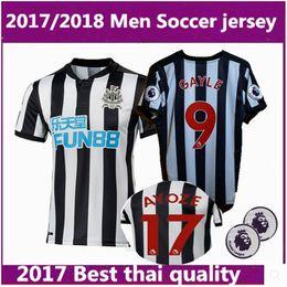 Wholesale El Flashing Shirts - 10 DHL 2017 Newcastle United Home Soccer Jerseys 17 18 GAYLE MITROVIC RITCHIE Newcastle Football Shirt Thai Quality