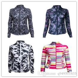Wholesale Ladies Long Sleeve Tops Xs - many color style lady scuba hoodie lulu define jacket yoga hoodies Sweatshirts coat top sportswear woman whosale original Outerwear