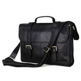 """Wholesale Messenger Bag 13 Men - Mens Genuine leather handbag Messenger Bag Briefcase 13"""" Laptop Bag Shoulder Bag Business Style 7101"""