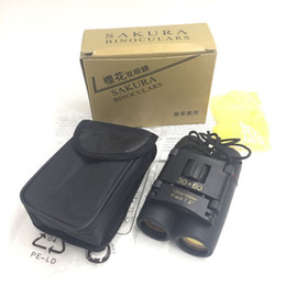 Wholesale Wholesale Binoculars - Pocket Sakura Binoculars, 30 x 60 Zoom Optical Binocular Telescope 126m-1000m Black Color With Storage Bag