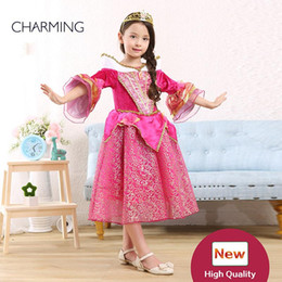 Wholesale Pink Store Clothes - girls clothes Cosplay Girls Cinderella Princess Palace Outfit Party Dress online wholesale stores ball gown wedding dresses princess pink