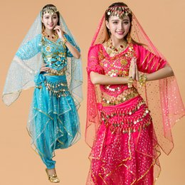 Wholesale India Clothing Costumes - Dancewear Chiffon 6 Color Belly Dancing Outfit for Ladies Belly Dance India Clothing Costumes Stage & Dance Wear