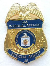 Wholesale US CIA INTERNAL AFFAIRS CENTRAL INTELLIGENCE AGENCY Metal Badge Halloween Cosplay Metal Badge Toy Gift Special Agent