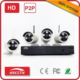 Wholesale Dvr Cctv 4ch Camera - Manufacturer china 4ch dvr wifi nvr kit p2p outdoor waterproof 720p network ip camera home security wireless cctv system