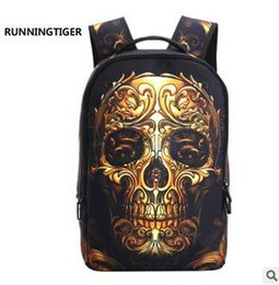 Wholesale Red Skeletons - Newest Fashion Teenager Skeleton Printed Backpack Large Capacity Novelty School Backpack Men's Tide Casual Sport Traveling Bags 8 Style