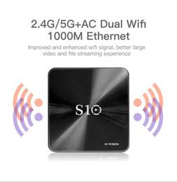 Wholesale Internet For Tv - S10 3GB 32GB octa coreTV box Android 7.1 Stream Internet Box Smart 4K 64bit S912 CPU AC dual band WIFI BT4.1 Metal case Box for TV Epacket