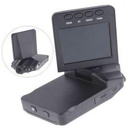 "Wholesale Hd Car Cam Free - H198 HD Car DVR Camera Blackbox 2.5"" Vehicle Video Voice Recorder Cam 6 IR LED Night Video 60pcs Free DHL"