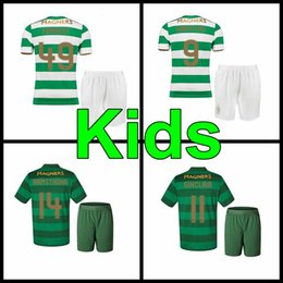 Wholesale Grey Tops - TOP Quality 2017 2018 Celtic FC Home Soccer Jersey 17 18 Celtic kids kit Griffiths dembele Sinclair Rogic McGregor Roberts Forrest Jersey