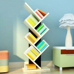 Wholesale Decorative Wood Shelves - Storage Holders Wood Bookcase Books Storage Rack Display Shelf Bookshelf Home Office Decorative Shelf Stand Rack VT0693
