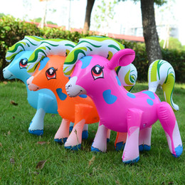 Wholesale Rainbow Pony - Lovely large inflatable toys Inflatable rainbow horse toy Inflatable pony toys for children Activity & Amusement
