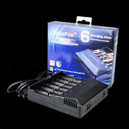 Wholesale trustfire batteries - Original TrustFire TR-012 Intelligent Battery Charger 6 Slots For Authentic 18650 18500 18350 Battery 100% Genuine 2238041