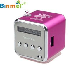 Wholesale Usb Sound Card Price - Wholesale- Factory Price Binmer HIFI Speaker MP3 Player Micro SD TF Card USB Speaker With FM Radio 51119 Drop Shipping