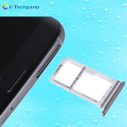 Wholesale Sd Galaxy - 100% Original Single  Dual SIM and Micro SD Card Tray Holder for Samsung Galaxy S7 Edge Card Slot Reader,Black Gold Silver