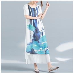 2017 printemps nouveau vent national arts et métiers ventilateur robe numérique robe lâche robe lâche ? partir de fabricateur