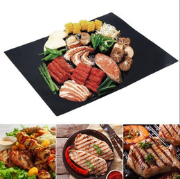 Wholesale Cleaning Magic Stick - BBQ Grill Mat Magic Mats Non Stick Grilling Backing Outdoor Plate Portable Easy Clean Outdoor Picnic Cooking Tool 40x33cm KKA1849