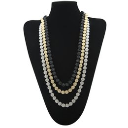 Wholesale High Quality Necklace Wedding - 3 Color High Quality Men's Round Single Row Necklace Hip-hop Gold Plated Full Bling Rhinestons Crystal Hiphop Necklace Link Chain Jewelry