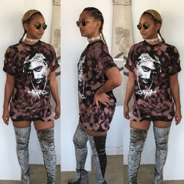 Wholesale Dress Way - Trade New Product 2016 Autumn Suit-dress Restore Ancient Ways Tupac A Head Printing Holes Easy Long Fund T Shirt Skirt