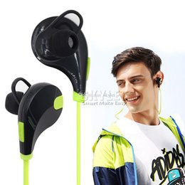 Wholesale Earphones Run - In-ear Bluetooth Headphone QCY QY7 Bluetooth 4.0 Stereo Earphone Fashion Sport Running Headsets Studio Music Earphone With Mic In Retail Box