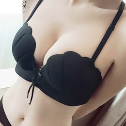 Wholesale invisible strap bras - Girls LB Sexy LB Invisible Shell Bra Wireless Thick Adjusted Straps Push Up Bra Women Seamless Underwear Women Palm Massage Bra Lingerie