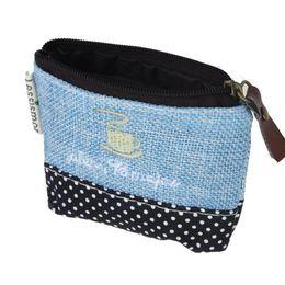 Wholesale Key Case Wallet Zip - Wholesale- 2016 Fashion wallet women Canvas Colorful Small Women purses handbags Zip Wallet Girls Coin Case Key Holder women's wallet #YL