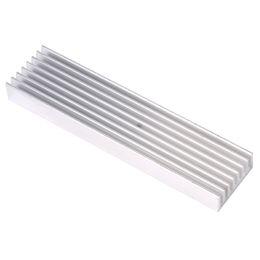 Wholesale Heatsink For Power Led - DIY Cooler Aluminum Heatsink Heat Sink Chip 100*25*10mm for IC LED Power Transistor