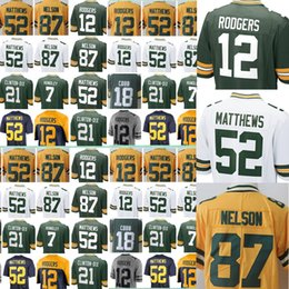 Wholesale Packers Green - Green Bays Men Jersey Packer 12 Aaron Rodgers 87 Jordy Nelson 18 Randall Cobb 52 Clay Matthews Vapor Untouchable Limited Color Rush jerseys