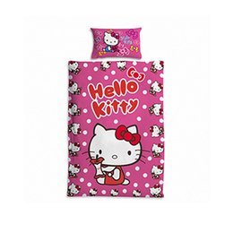 Wholesale Duvet Children - HELLO KITTY, HELLO KITTY, 2 piece animated cartoon student bed suite, material: 50% cotton, 50% polyester, suite: 1 x duvet cover: 1 x145x20