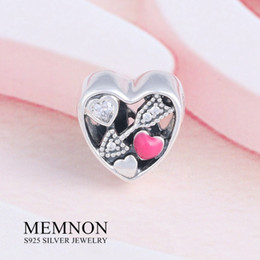 Wholesale Made Love Charms - 2017 Valentine's Day heart charm 925 Sterling Silver jewelry Struck by Love Charms Beads For Jewelry Making Fit Bracelets DIY BE439