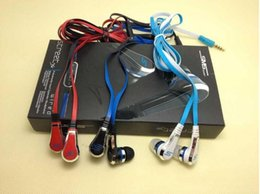 Wholesale High Quality Noodle Earphones - 50 Cent SMS Headphones Eearphones Wired High Quality 50cent Noodle Wired in-ear Earphone With Mic STREET By 50-Cent Earbud With Package